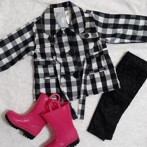 Other - Black&white plaid raincoat (H2)